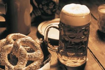 Pretzels and beer go hand-in-hand in Germany.