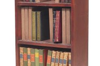 Book shelves can be painted or stained to suit your taste.