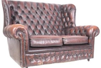 Furniture buttons range from those on Chesterfield-style loveseats to contemporary pieces.