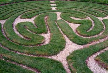A labyrinth is a traditional element of church landscapes.