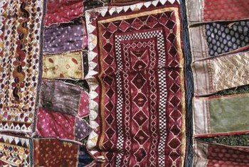 Attractive Fabrics Of All Kinds Can Be Used For Coverlets.