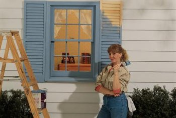 Use window shutter colors that complement or contrast with your home's exterior colors.