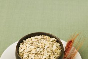 Oatmeal provides soluble fiber, which is one kind of carbohydrate.