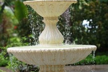 Refinish your concrete fountain with paint or stain.