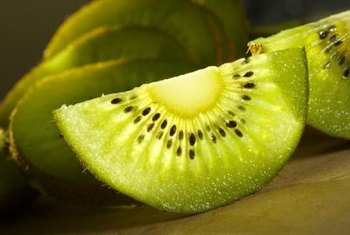 Kiwis need to be trained correctly to a trellis for best fruit production.