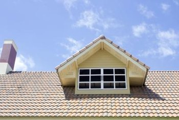 Small gable dormers increase ceiling height in parts of the attic.