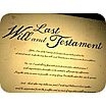 LAST WILL AND TESTAMENT OF....