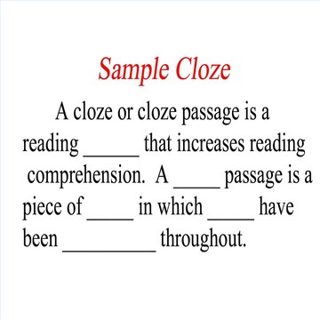 This is a sample cloze passage.