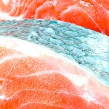 Salmon and other fatty fish may help lower cholesterol.