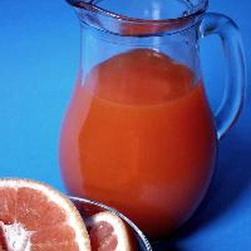 Grapefruit juice contains more vitamin A, but less folate, than orange juice.