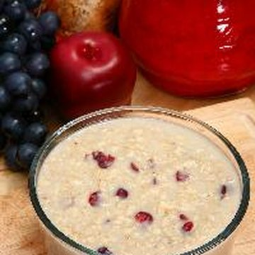 Instant oatmeal is fortified with vitamins and minerals.