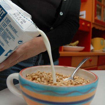 Cereal and milk make a good bedtime snack.
