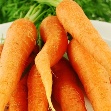 Carrots are rich in soluble fiber.