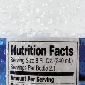 The nutrition label lists several types of carbohydrates, including fiber and sugar.