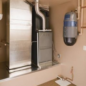 Indoor air conditioner units are often part of a switch-unit with a built-in furnace.