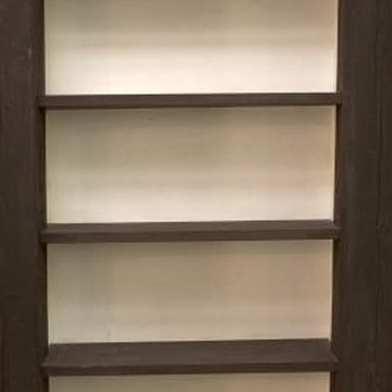 A bookcase ready for repurposing presents many possibilities.