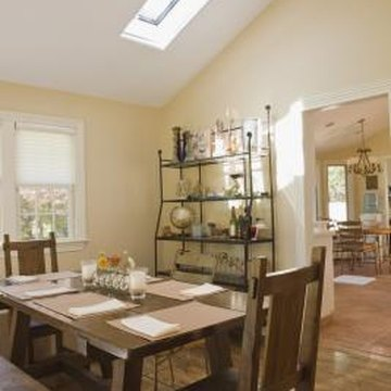 Skylights in vaulted ceilings are a great source of additional natural light.