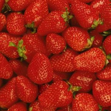 Freshly harvested strawberries have a sweet flavor.