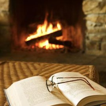 A fireplace can lose the majority of its heat through the chimney.