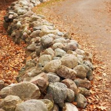 Rock borders are a pleasant, natural garden addition.