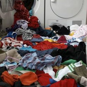 Too many clothes can unbalance your washer.