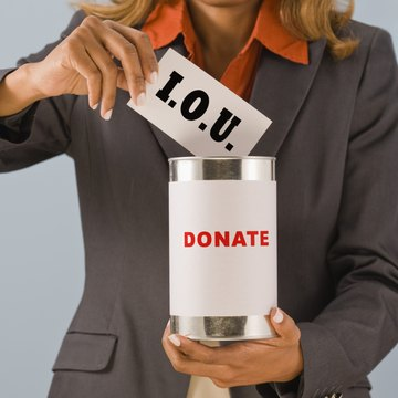 Having an employer make a donation in your name doesn't mean you can write it off.