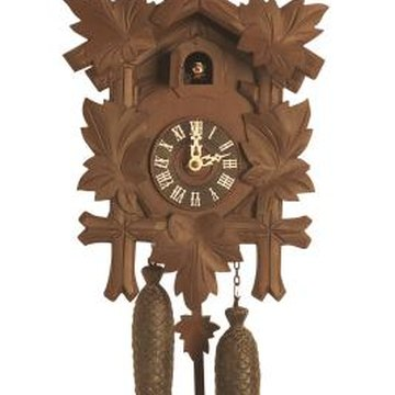 Weights are required on a manual cuckoo clock for it to work.