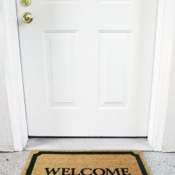 Install a wood threshold on any door.