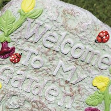 You can imprint, add decorations or paint a rain resistant garden plaque.