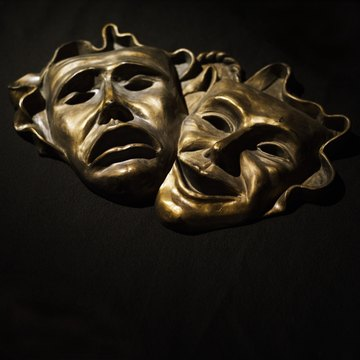 The masks of tragedy and comedy symbolize the earliest forms of drama.