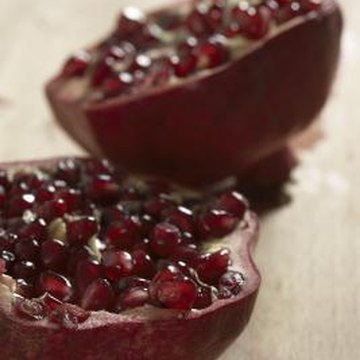 Store your pomegranate harvest at temperatures between 32 to 41 degrees Fahrenheit.