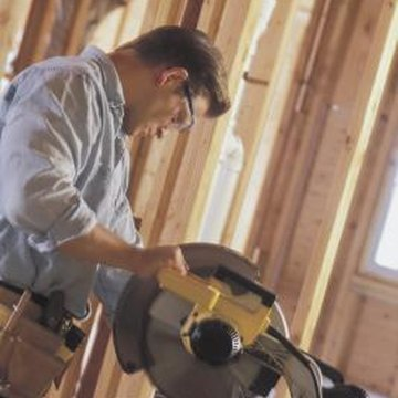 Chop saws make a clean cut through vinyl siding.