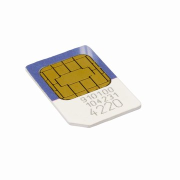 Take care when handling a SIM card, as the metal contacts can be fragile.