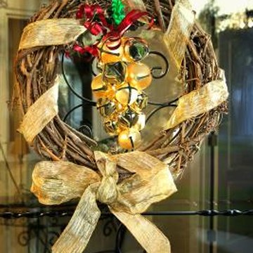 Wreaths aren't the only way to decorate your office door.