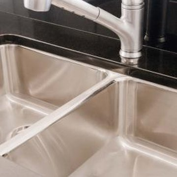 Under-mount sinks are popular with granite, marble and solid-surface countertops.