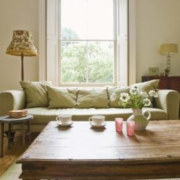 Dings, dents and nonuniform color create an antique appearance for any coffee table.