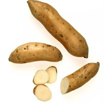 Yacon tubers available in the United States have white flesh.