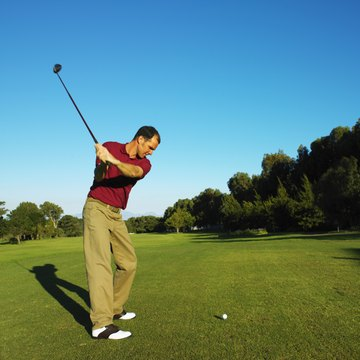 Keeping the left arm straight or slightly bowed improves your swing.