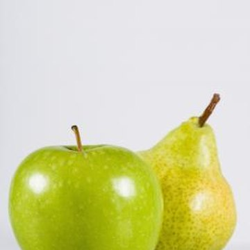 "Apples and pears are classified as ""pome"" fruits."