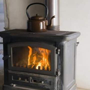 The wall needs extra protection when a wood stove is within 3 feet of it.