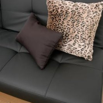 Pleather offers an inexpensive alternative to leather but can be suseptible to tears and holes.