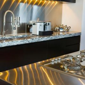 Stainless steel walls are both functional and attractive.