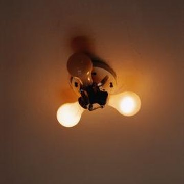 Add a ground to the electrical box when replacing a ceiling light.