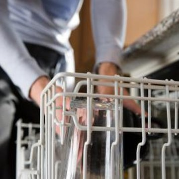 Dishwasher racks are covered in a vinyl coating.