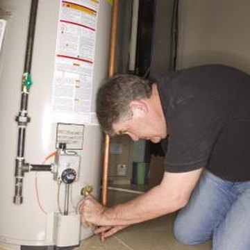 You can relight a gas water heater's pilot flame yourself.