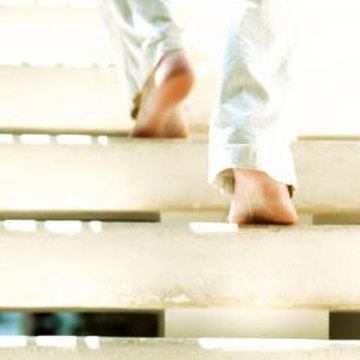 Stair treads help prevent you from slipping on the staircase.