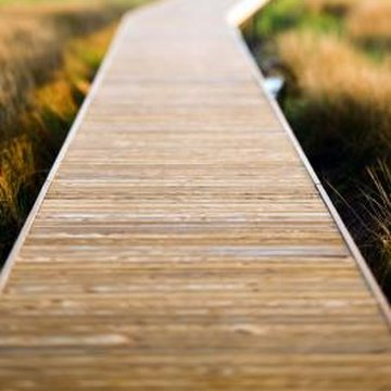 Wood walkways are a practical addition to your property.