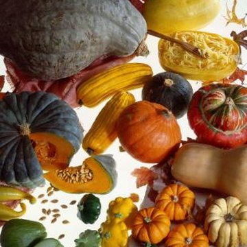 Squashes come in an amazing assortment of colors and shapes