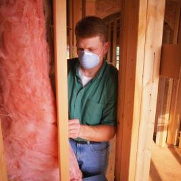 The required insulating standard for 2 x 4 walls is R-11 to R-15. These fiberglass batts provide that level of insulation.