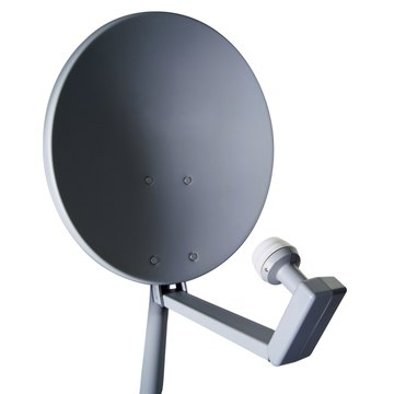 Calibrating a HughesNet satellite dish improves the signal strength it receives.